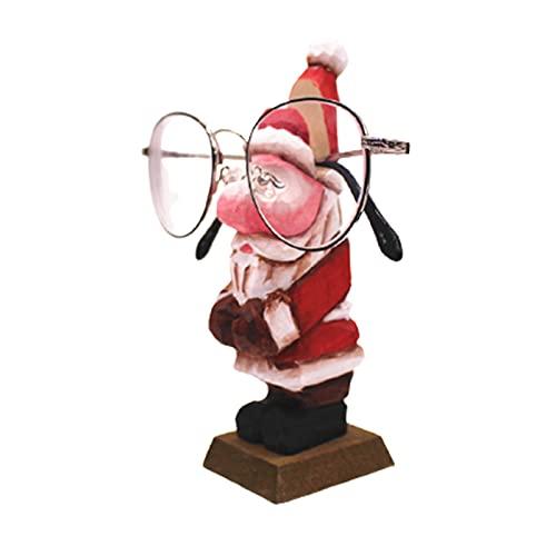 Soporte creativo de madera tallada a mano para gafas de sol, soporte para gafas de sol, figura de animal para escritorio de oficina,...