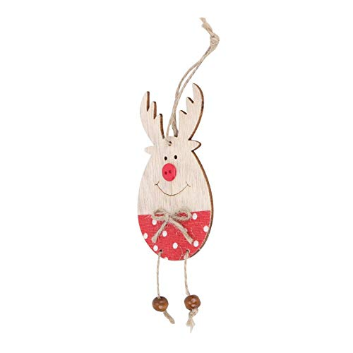 Mumusuki 4 stuks Smile Cute Lovely Deer Elk Shape Xmas Ornament Decoratie Kerstboom