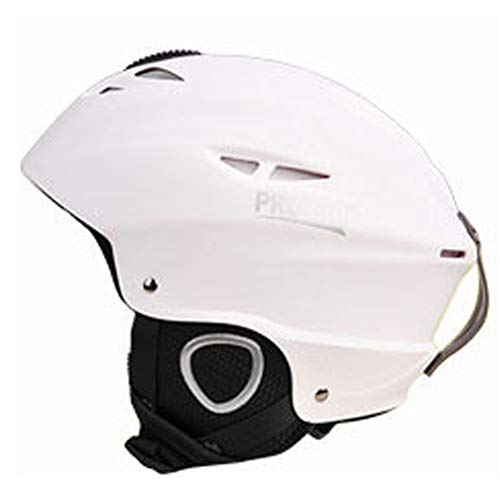 LGPNB Helm Ski Single und Double Board Kinder Erwachsene Sport Helm Outdoor-Sportartikel SGS-Test-Zertifizierung für Kinder/Jugendliche/Erwachsene/Männer/WOM-White-S