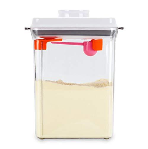 D&F Portable Milchpulver-Spender,2300 ml Milchpulver Vorratsbehälter,Lebensmittelvorratsbehälter Transparent BPA-freien