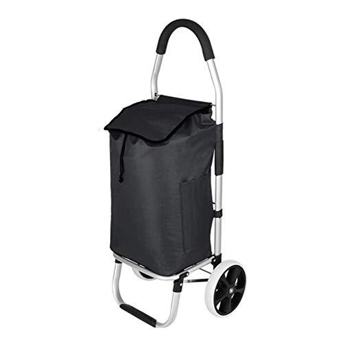 HHTD Trolley, Compras Carrito de Compras Plegable (Color : Black)