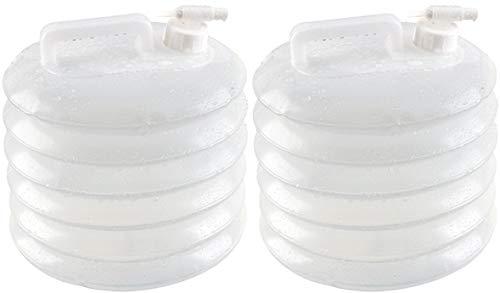 AceCamp 2 x Wasserspender Faltkanister, Wasserkanister mit Hahn, Wassertank, Wasserbehälter, Kanister, Doppelpack, 10 Liter
