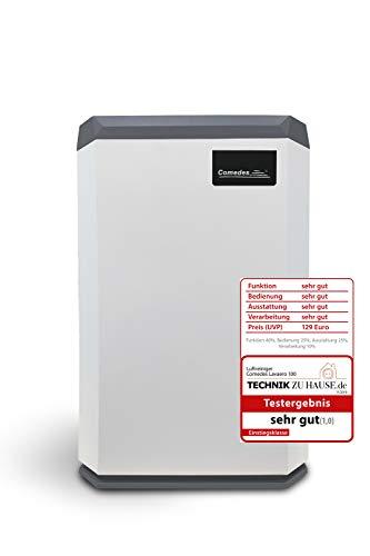 Comedes Lavaero 100 - Kompakter 6-Stufen Luftreiniger inkl. Aktivkohle, HEPA-Filter und Ionisator | CADR 120m³/h | Luftqualitätssensor (PM2.5) | Ideal für Allergiker & Raucher | Räume bis 35m²