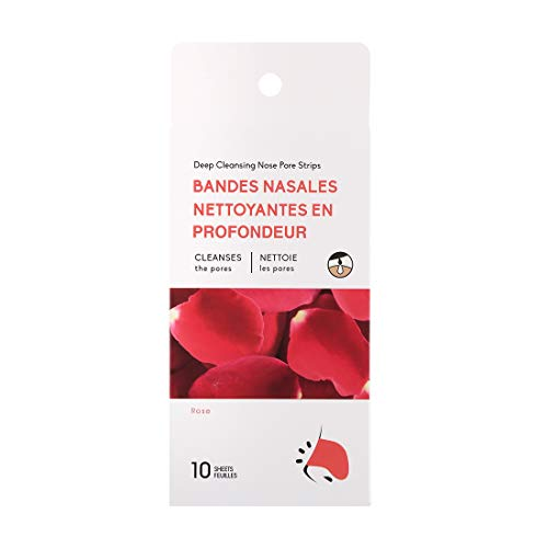 MINISO Painless Blackhead Remover Nose Strips, Skincare Deep Cleansing Nose Pore Cleaner for All Types of Skin (Rose)