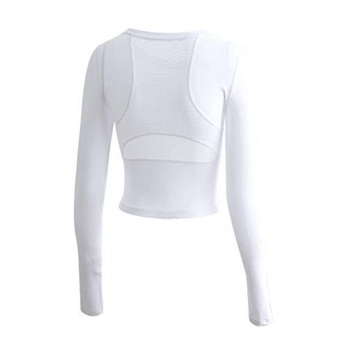 Ajustado corto Deportes camiseta de secado rápido transpirable sexy de manga larga ropa de yoga tops mujeres red rojo running fitness ropa