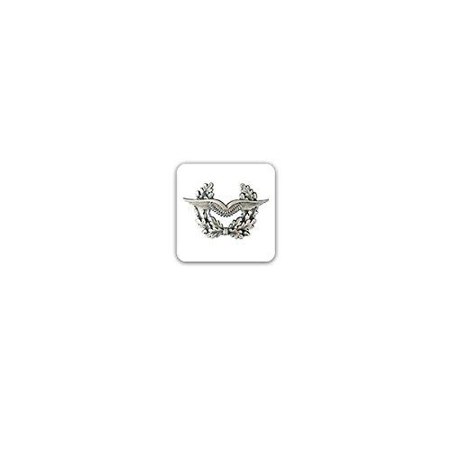 Aufkleber/Sticker -Barettabzeichen Luftwaffe Flieger Bundeswehr Heer Deutschland Einheit Militär Uniform Offizier Soldaten Wappen Emblem 7x7cm #A3222