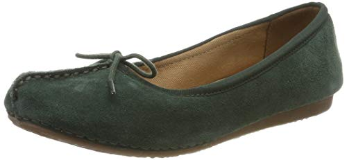 Clarks Damen Freckle Ice Slipper, Grün (Forest Green Forest Green), 41 EU