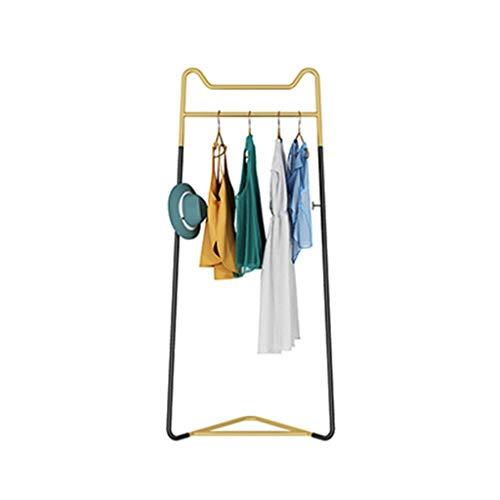 AOYANQI-Percheros Creatividad Bastidores Coat, Sencillez ropa verticales del carril esquina de metal perchas de entrada dormitorio Casa de familia Guardar Ropa espacio de rack Multiusos