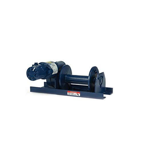 MY-TE HY1D 744011 Standard Hydraulic-Direct Winch-Hoist | 1,500 Lb. Single or 3,000 Lb. Double Line Lift | Worm Gear Reduction for Positive Load Holding