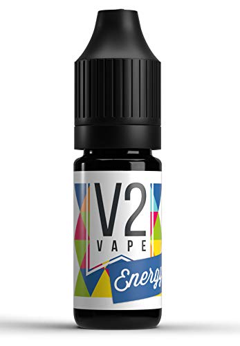 V2 Vape Energy AROMA / KONZENTRAT hochdosiertes Premium Lebensmittel-Aroma zum selber mischen von E-Liquid / Liquid-Base für E-Zigarette und E-Shisha 10ml 0mg nikotinfrei