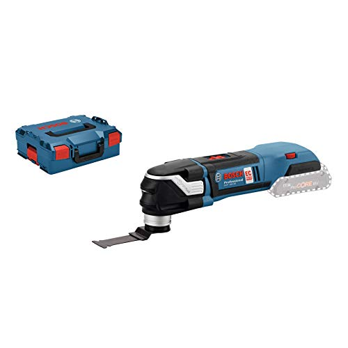 Bosch Professional GOP 18 V - 28 Cordless Multi - Cutter + PAIZ 32 APB StarlockPlus BIM Plunge Cut Saw Blade (without Battery and Charger), L - Boxx