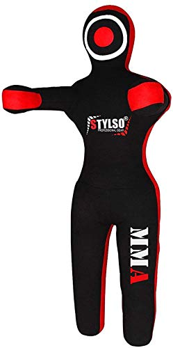 MMA Grappling Dummies BJJ Wrestling - Brazilian Jiu Jitsu, Mixed Martial Arts, Boxing, Judo Karate Training Dummy - Standing - 5ft/60 6ft/72 Black - Blue - Red - Yellow (Black, 5ft/60 inches)