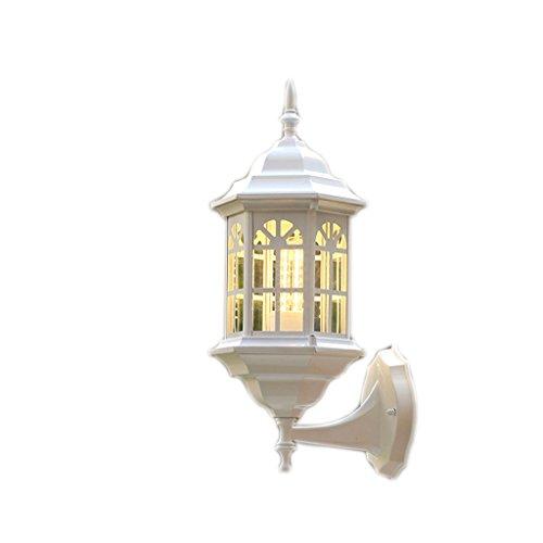 Fer cour octogonale extérieure lampe de mur du couloir de la lampe murale 42 * 20cm (Couleur : Bronze)