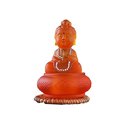 WANWOOT Meditationsstatue Buddha Ornament, Harzskulptur Dekoration Sammlerfigur, Innen- oder Außendekoration für Balkon Garten Terrasse Veranda Art
