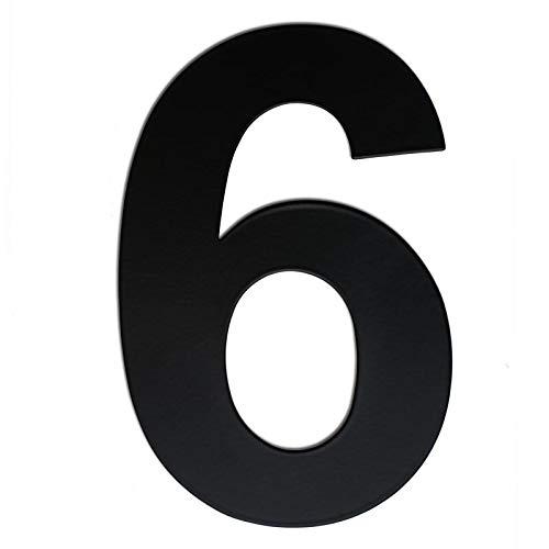 nanly Número de casa moderna-25.4cm/10 NEGRO pulgadas-Acero inoxidable, Apariencia flotante, Fácil de instalar y hecho de acero inoxidable sólido(10in Número 6/9)