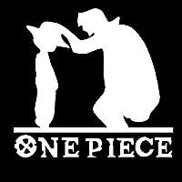 面白いステッカー 車のステッカー海賊モンキーD.luffy父と息子の漫画創造的なデカール防水オートチューニングスタイリング14cm * 13cm (Color : 3, Size : 19x18cm)