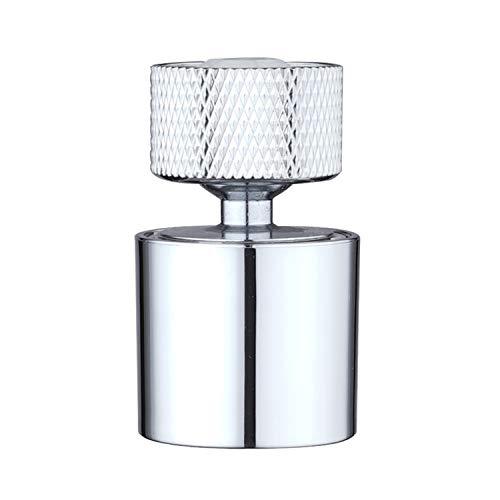 Hibbent doppelfunktionaler Wasserhahn-Luftsprudler für Küche/Bad, 360-Grad-drehbarer Schwenkkopf, Wasserhahn-Siebstrahlregler, hochwertige Mischdüse, Wasserhahnaufsatz, 22mm Innengewinde-Chrom