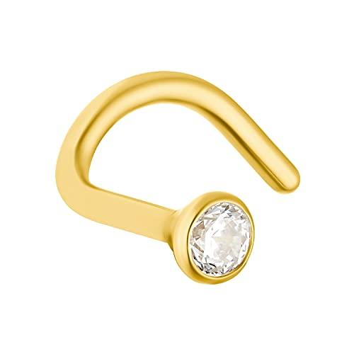Amor Nasenpiercing für Damen, 750 Gold