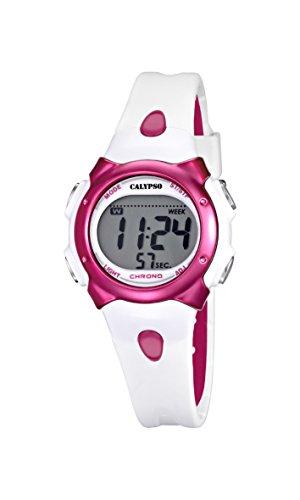 Calypso Girl 's Reloj Digital con Pantalla LCD Pantalla Digital Dial y Correa de plástico Multicolor k5609/3