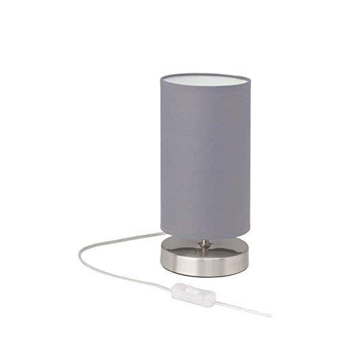 Brilliant Clarie Tischleuchte 26cm Textilschirm Eisen/grau, 1x E14 geeignet für Tropfenlampen bis max. 40W