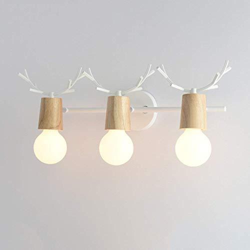Nordic koplampen creatieve muur lamp badkamer wc spiegels dressoir spiegel koplampen badkamer accessoires, zwart, 3 hoofd