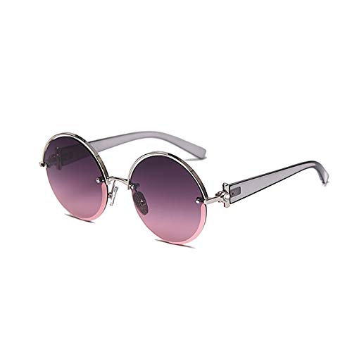 HDSJJD Ladies Hombres Polarizadas Gafas De Sol UV400 Anti-UV Glasses Gafas Redondas Tonos Retro Moda Gafas Al Aire Libre,E