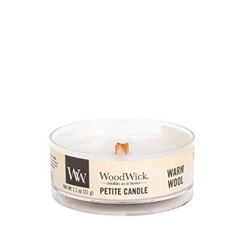 Woodwick warme wol Petite kaars