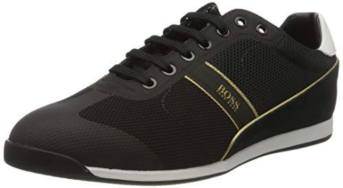 BOSS Herren Glaze_Lowp_mewt Sneaker, Schwarz (Black 007), 41 EU