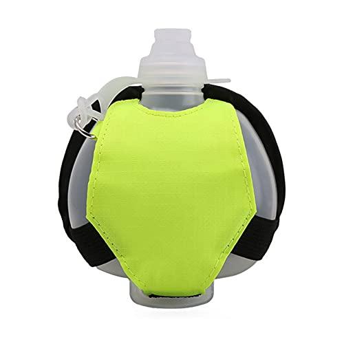 Yusea Botella de agua para correr, ajustable en la muñeca, botella de agua de mano, para correr, senderismo, camping, 17 ml