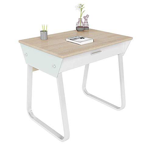 N/Z Living Equipment Escritorio Simple Mesa de Estudio en casa Escritorio de 80 cm para Estudiantes Escritorio de Oficina con 1 cajón Hoja de18 mm de Grosor200㎏