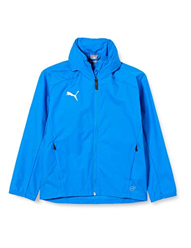 PUMA Kinder Liga Training Rain Jacket, Electric Blue Lemonade White, 152