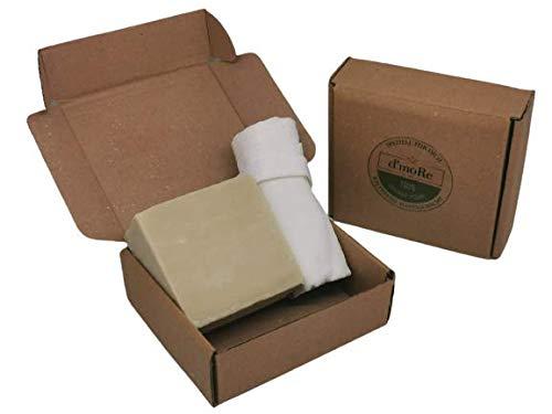 BIO Olivenölseife + Gratis Peelinghandschuh (1x Kese) - Olivenöl Seife 100% Naturprodukt - 100% Vegan - Fürs Haar, Gesicht, Hände und Körper.