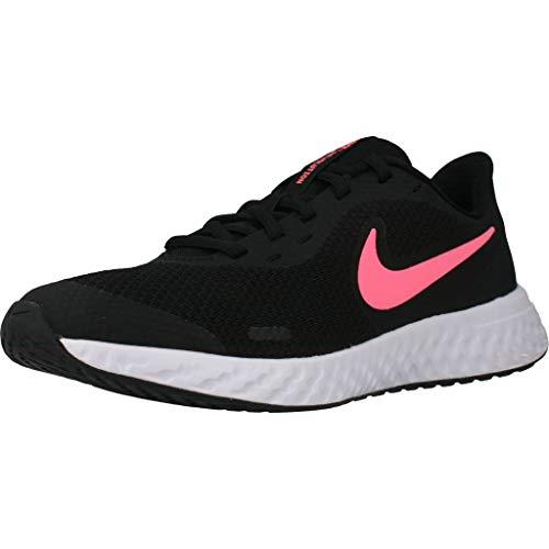 Nike Unisex-Kinder Revolution 5 (GS) Laufschuhe, Schwarz (Laser Crimson/Black-Laser Crim 606), 36 EU