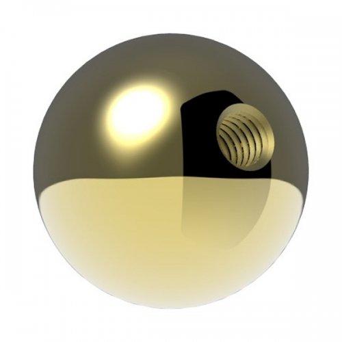 Messingkugel massiv ø 25mm, mit M6 Gewinde, spezialbeschichtet für Innen- und Außenbereich