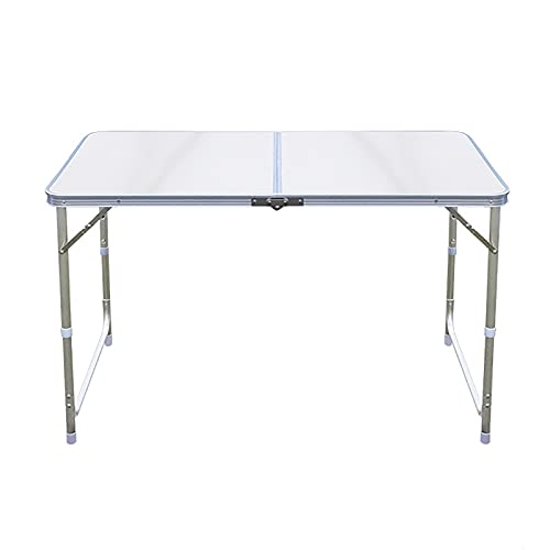 Trintion Folding Table 4ft Folding Camping Table With Handle Aluminum Garden Catering Trestle Table For Picnic/Bbq/Garden Party