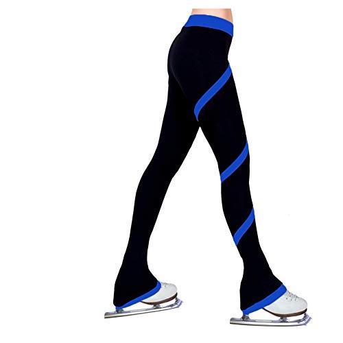 vap26 - Pantaloni da pattinaggio su ghiaccio, per bambini, per pattinaggio artistico su ghiaccio, blu royal, 130 cm