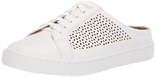 Bella Vita Women's Star II Casual Mule Slip on Shoe, White, 11 N US