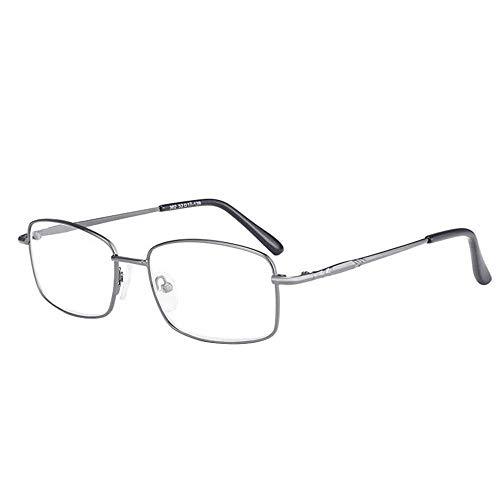 Reading Glasses Gafas de Lectura de Doble Luz de Moda, Material de Aleación Ultra Duradero y Duradero Lente Presbiópica Bifocal, Gafas de Lectura Unisex de Gama Alta (Grado: + 1.00 ~ + 2.50)