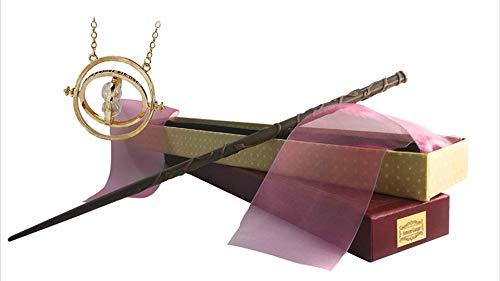 Cosplay Studio Baguette Magic Harry Potter Tamaño Real Modelo idéntico Solide Reforzado Interior Acero (Hermione Pack)