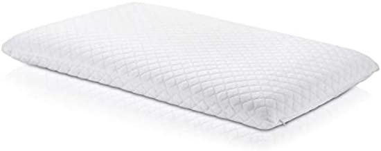 Ultra Slim Sleeper Memory Foam Pillow: Extra Low Profile, Cotton Cover, Only 3 Inches Thick. Best Flat Pillow for Stomach, Back, or Side Sleepers…