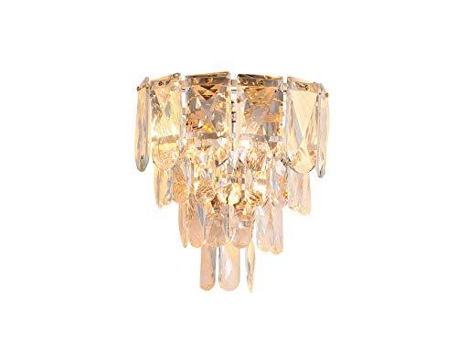 DSYADT K9 Lámpara de Pared de Cristal E14 Lámpara de Pared de Cristal Moderna con Forma de Gota de Lluvia Decoración de luz de sofá Brillante para la cabecera del Hotel Sala de Estar Comedor Acabado