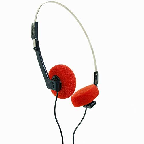 BVC F633G-M - Auricular de Diadema Mono - Esponjas Naranjas - Jack 3,5...