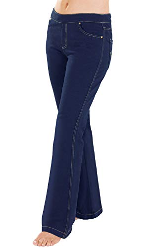 PajamaJeans Womens Stretch Jeans Bootcut - Jeans for Women, Indigo, X-Large