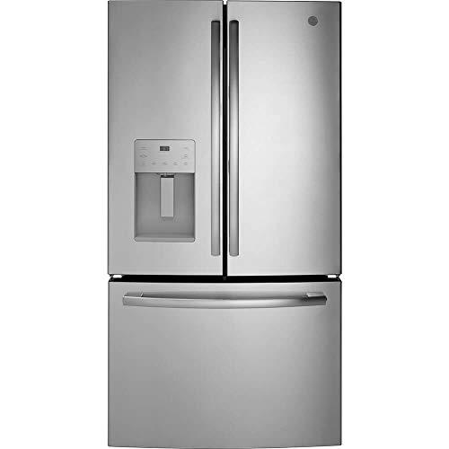 refrigerador una puerta acero inoxidable de la marca GE