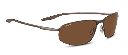 Serengeti Matera Large Sunglasses -Brushed Brown, Polarized Drivers Lens