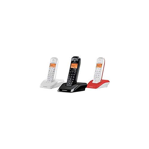 Motorola S 1203 TRIO - Telefono cordless DECT, vivavoce, bassa emissione di radiazioni