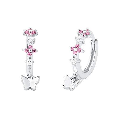 Prinzessin Lillifee Silber Kinder-Ohrringe Creolen Schmetterling 2027893