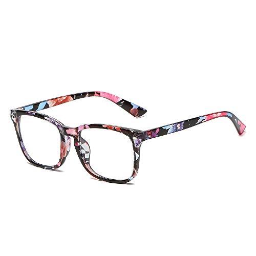 Shayin Blue Light Blocking Glasses Square Eyeglasses Frame Anti Blue Ray Computer Game Glasses