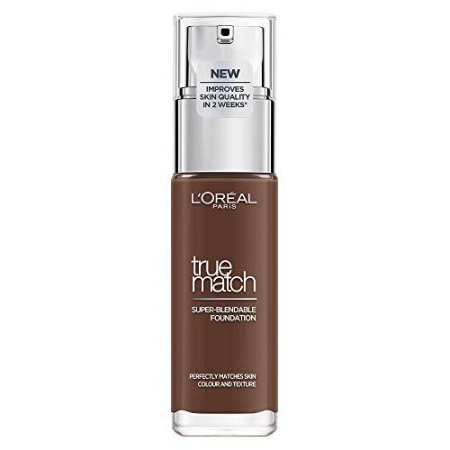L'Oréal Paris Perfect Match 11.N Dark Coffee, flüssiges Make-up, hautton-anpassend, pflegt die Haut mit Hyaluron und Aloe Vera