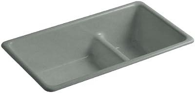 KOHLER Iron/Tones Smart Divide Self-Rimming or Undercounter Kitchen Sink